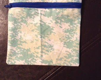 Sea green zipper storage bag
