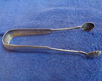 Nice COIN SILVER tongs - early American