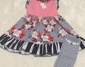 Floral & Stripe dress