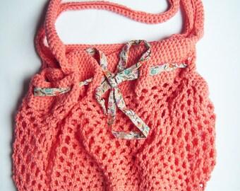 crocheted bag, shopping