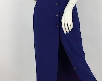 Vintage Jacob high waist belted midi, 80s high waist midi, 1980s midi skirt