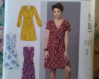 McCall's 7381 brand new unused 4 dress sewing pattern.