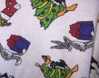 Rare unique Vintage 90s Looney Tunes Christmas turtleneck size Large