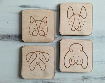 Furry Pals Coasters (Set of 4)