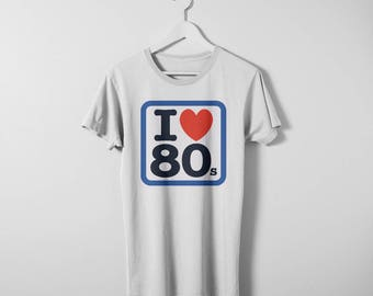 Born in the 1980's t-shirt. Available in any decade. Men's & women's sizes available. Printed on comfy Bella Canvas cotton t-shirt.
