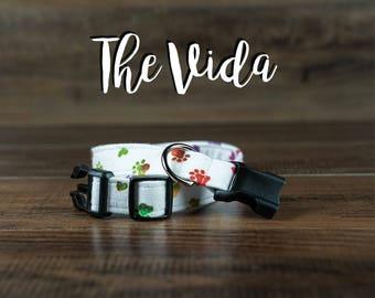 The Vida - Fabric Dog Collar - Adjustable Collar - Custom Fabric