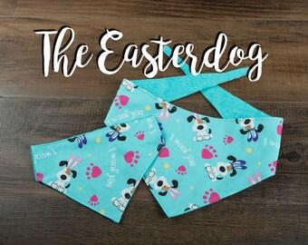 The Easterdog - Dog Bandana - Tie Up Bandana - Over the Collar Bandana - Double Sided Dog Bandana