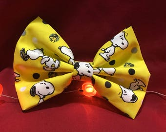 Yellow snoopy bow