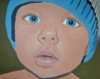 Hand Painted Portraits of Your Child From Your Photos