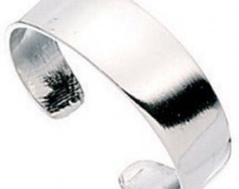925 solid Sterling Silver Plain Band Toe Ring