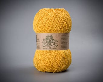 Yellow yarn Eco yarn Cotton yarn Linen yarn Summer yarn Crochet yarn Ethno-cotton 1200 Cotton linen yarn Premium yarn Baby yarn