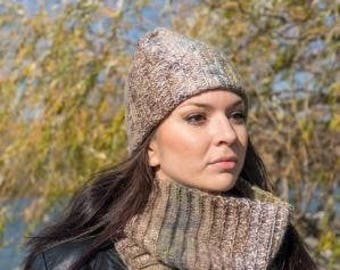 READY TO SHIP Crochet women set.Crochet Beanie.Crochet infinity scarf.Mohair crochet set.Women hat.Women scarf.Wool hat. Wool scarf
