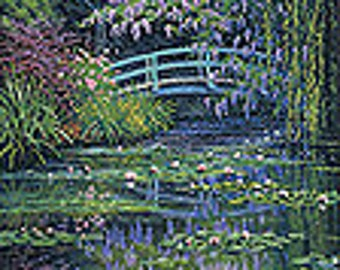 Embroidery kit Monet's Japanese Bridge
