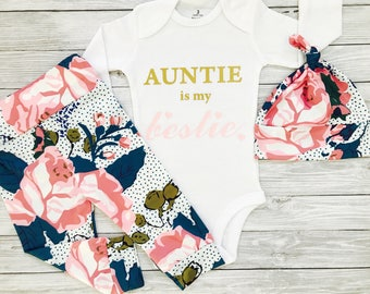 Baby Girl Aunt, Baby Girl Clothes Aunt, Newborn Aunt Outfit, Aunt Baby Clothes, Niece Baby, I Love My Aunt, Baby Gift For Niece