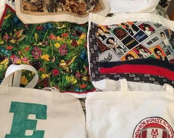 Market/school/fabric tote Sports/Nature/Star Wars