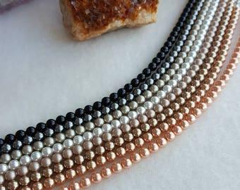 Swarovski pearl bracelet multiple colors 4mm