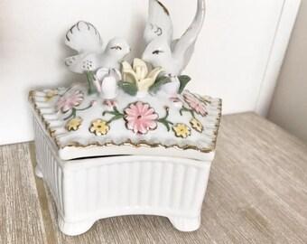 Vintage Dove Trinket Box