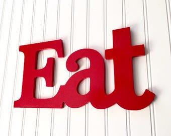 Eat Sign - Kitchen Decor - Eat Wall Decor - Farmhouse Decor - Rustic Eat Sign - Eat Letters - Kitchen Sign - Kitchen Wall Art