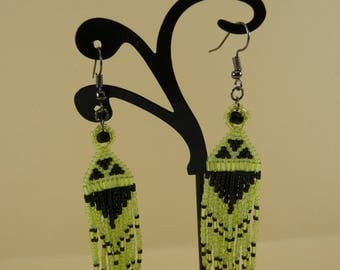 Earrings with fringes