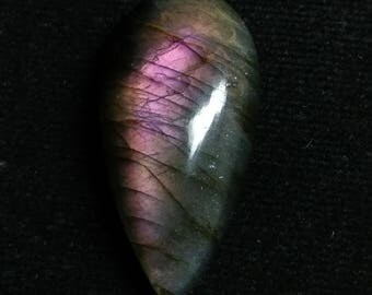 Labradorite Purpel Pear Cabochon,1 Piece ,Size- 33x21x7 MM, Purpel  Flashy , AAA,  Loose Gemstone, Smooth Cabochons.