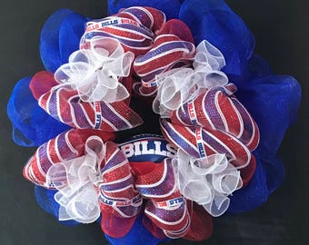 Buffalo Bills Football Wreath