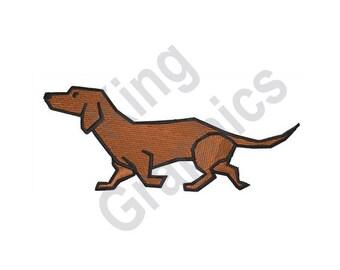 Dachshund - Machine Embroidery Design, Dog, Puppy