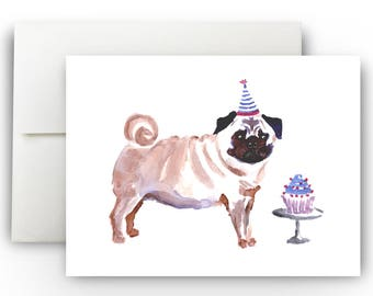Pug Greeting Card