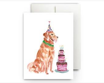 A Golden Birthday Card