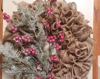 Winter berry wreath 15''