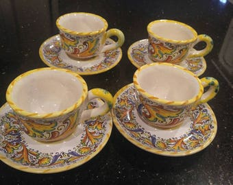 Meridiana italian ceramiche tea cup and sauce