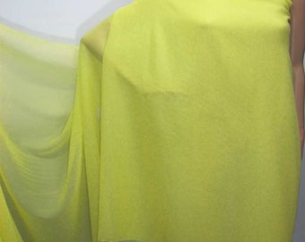 114cm /45 inches wide Baby Maize Yellow Silk Georgette Chiffon Fabric 8mm dressmaking material sheer CN-29 by the yards or by the meters
