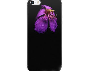 Phone Accessories/Purple Flower/Morning Dew/Original Photography/ iPhone 5 case/ iPhone Case 6, 7 , 8, 8 plus