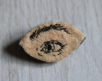 Almond eye pin