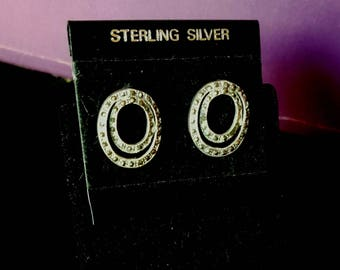 Pretty sterling silver round post earrings