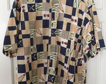 Vintage Woolrich Camp Themed Camp Shirt