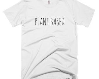 Plant Based White Short-Sleeve T-Shirt