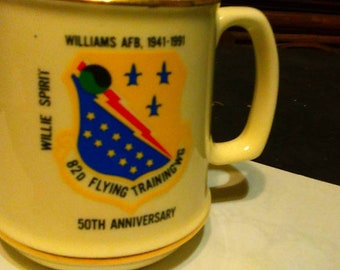 Williams AFB 1941 1991 50th Anniversary Coffee Mug