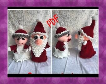 2Tutos/pattern PDF marionnettes pere et mère noël crochet