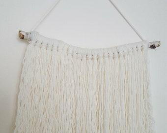 Natural boho wall hanging