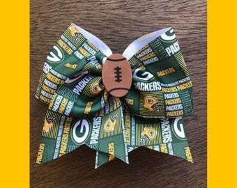 Greenbay packers hair bow