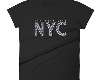 New York City Shirt | NYC Shirt | New York Shirt | New York City Gift | Typographic Shirt | Prismatic Shirt | NYC Shirt Women | NYC Clothing