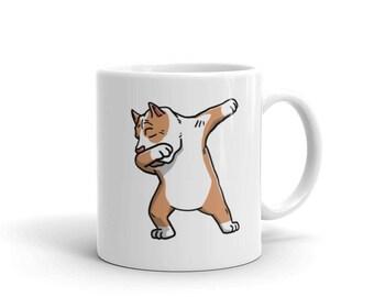 Cute Dabbing Pit Bull Mug Funny Dab Dance Dog Gift