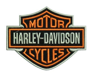 Embroidery Designs Harley Davidson Logos Set of 2 Harley Davidson Motorcycles