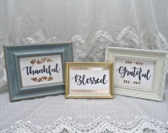 Thankful Grateful Blessed Set