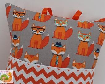 Fabulous Foxes Reading Pillow // Kids Reading Pillow // Pocket Pillow // Fox Pillow