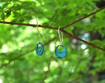 Patina Disc Earrings