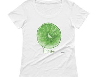 Lime T-Shirt - Womens - Foodie - Chef - Organic
