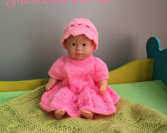 Dress and hat for baby 20 cm