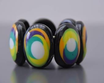 vintage 70s/80s bracelet multicolor plastic