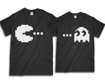Couple Shirt, Pacman Shirt, Matching Shirt, Couples Shirts, Valentine  Shirt, Gift